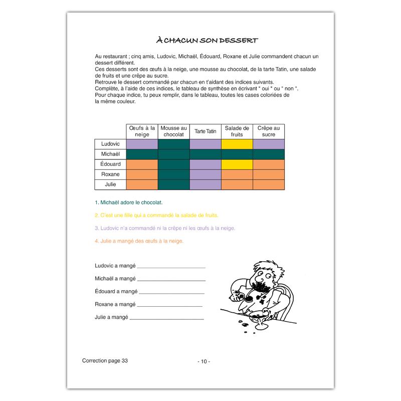 Le colorama - Tableaux Logico-déductifs